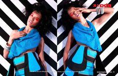 Editorial en Messenger Mag #Stripes #Dominican #Blue #Fashion