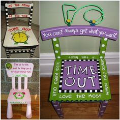 Discipline in the home is a fine line.  These Time Out Chairs might be just what you are looking for.