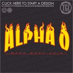 Alpha Omicron Pi-TCU Work Week: Fire Flames Rock n Roll racing flames Thrasher Magazine