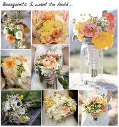 loose organic wedding flowers