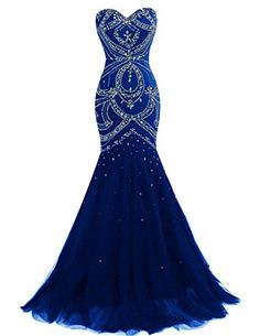 Dresstells® Long Mermaid Prom Dress Corset Back Tulle Evening Gowns with Beads Royal blue Size 24W Dresstells http://www.amazon.com/dp/B01C5R06V8/ref=cm_sw_r_pi_dp_Vr3exb0AG6PC3