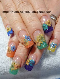 Thistlebelle Nail Boutique: Dried inlays