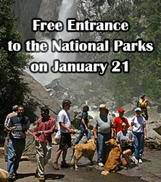 Free Entrance to National Parks on January 21