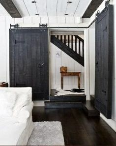 sliding barn door...for your closet
