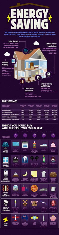 Energy Saving: Are energy saving improvements really worth the initial expense and effort? - Infographic. From the UK, but easy to get the gist of.