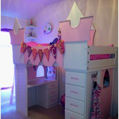 Castle for our 5 year old Princess! Made out of bunk beds