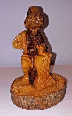 Olive Wood Carving After The Boy Michelangelo Chisels The Faun's Head Holy Land