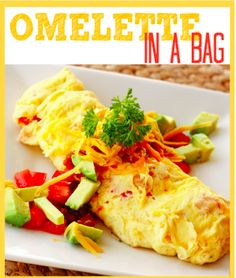 Combine all your favorite omelette ingredients in a seal-able bag and give them a shake. Then, place the bag in boiling water, and you've got a tasty breakfast.