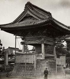 Kawasaki temple bell, ca. 1870's by Felice Beato