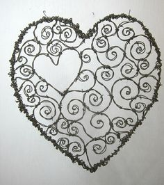 Burly Barbed Wire Valentines Day Heart of Spirals by thedustyraven