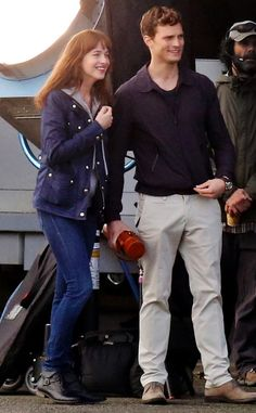 Dakota Johnson and Jamie Dornan Are All Smiles as They Reunite on Fifty Shades of Grey Set—Get the Details! Dakota Johnson, Jamie Dornan