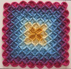 Wool Eater Blanket progress - 7 colours by thornberry, via Flickr