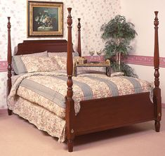 Cherry Scroll Bed by Colonial Furniture Colonial Furniture, Wooden Furniture, Bedroom Furniture, Cherry Furniture, House Design, Home Decor, Timber Furniture, Bed Furniture, Wood Furniture