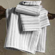 West Elm Spa Stripe Towel