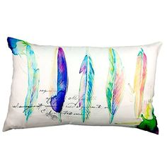 New Phantoscope Watercolor Series Decorative Throw Pillow Case Cushion Cover Feathers x Christmas Pillow Covers, Decorative Cushions, Throw Pillow Cases, Feathers, Watercolor, Link, Home Decor, Image, Pen And Wash