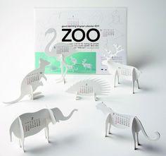Good Morning www.goodmorning.co.jp    Animal Calendars by Japanese design studio.