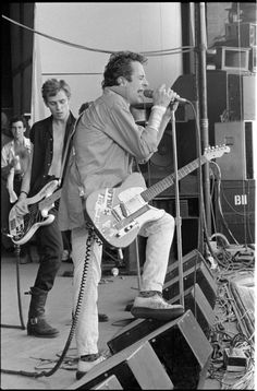 Joe Strummer and Paul Simonon of the Clash, circa 1979.