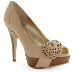 Guess Women's Shoes, Charisa Peep Toe Pumps