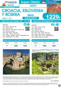 OF Gran Tour de Croacia, Eslovenia y Bosnia desde Bilbao salidas Julio** Precio final desde 1229** ultimo minuto - http://zocotours.com/of-gran-tour-de-croacia-eslovenia-y-bosnia-desde-bilbao-salidas-julio-precio-final-desde-1229-ultimo-minuto/
