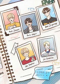 Uri maknae line Handsome Anime Guys, Korean Couple, Artwork Images, Bts Chibi, Korean Art, Ha Sungwoon, First Art, Kpop Fanart, Seong