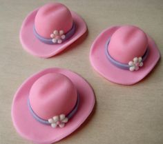 Pink Cowgirl Hat Edible Fondant Cupcake and Cookie Topper Decoration-Can be customized for a Cowboy Party Too! Cowgirl Birthday Cakes, Cowgirl Cakes, Cowgirl Party, Fondant Toppers, Fondant Cupcakes, Cupcake Cakes, Smash Cakes, Cupcake Ideas, Cupcake Toppers