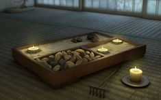 When creating a meditation room, calming, minimalist design elements work well