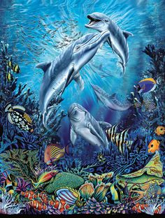 Dolphin Antics - 500 pieces. Released 2012.Sunsout puzzles are 100% made in the USAEco-friendly soy-based inksRecycled boardsNot sold in mass-market stores