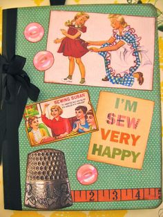 Retro Sewing Pattern Journal Notebook by SewMaryjane on Etsy, $18.00