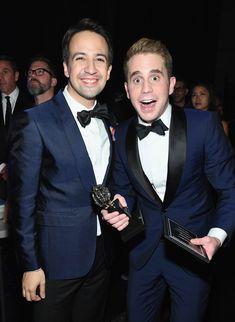 Lin-manuel Miranda and Ben Platt at the 2017 Tony Awards