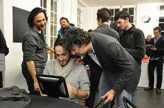 Olivier Sitruk et Alexandre Amiel choppent des tuyaux #poker auprès de Davidi Kitai, joueur du Team #Winamax.