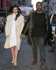 #CelebStyle: Kim Kardashian And Kanye West Out And About in NYC ,