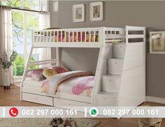 Harga Tempat tidur tingkat putih duco murah namun tidak murahan kualitasnya. dibuat langsung oleh pengrajin ukir kota jepara.