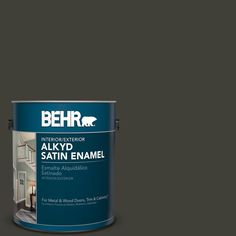 BEHR 1 gal. #PPU18-20 Broadway Satin Enamel Alkyd Interior/Exterior Paint