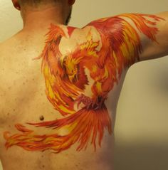 My husband's first tattoo.  The Phoenix