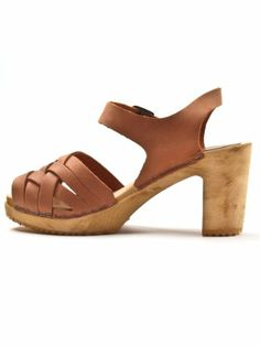 Suzzie Swedish Clogs in Cognac By Moheda
