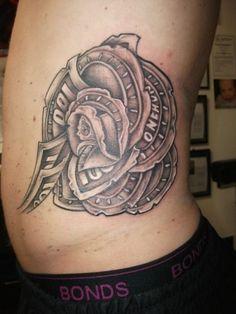 money rose tattoo prices She Got three tattoo and she said I want Shield Tattoo, 4 Tattoo, Temp Tattoo, Laser Tattoo, Back Of Shoulder Tattoo, Tribal Shoulder Tattoos, Rose Tattoo Meaning, Tattoos With Meaning, Money Rose Tattoo