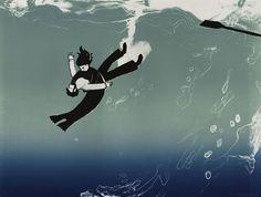 Saving/Drowning - C.A.Hiley artist printmaker