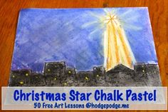 Christmas Star Chalk Pastel Tutorial at Hodgepodge - fantastic lesson with great pictures and instructions!