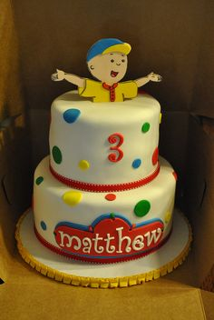 Caillou Cake My Cakes Pinterest Caillou cake Caillou and Cake