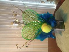 Center pieces for tennis banquet! Good concept for any kind of event, on a budget!!