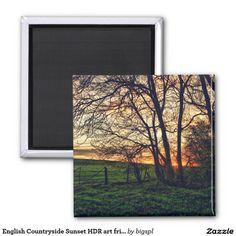 English Countryside Sunset HDR art fridge magnet      Found on -http://wonderpiel.com/