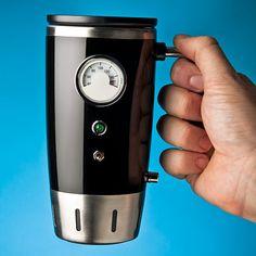 Keep your drink warm with this heated coffee mug (ThinkGeek)