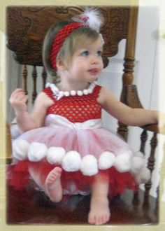 Christmas Tutu Dress with red and white tulle by Jillybeantutus, $79.99
