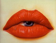 painting pictures, fantasy artwork, contemporary artists, mouth, red vs blue, dream art, red lips, eye art, art pictures