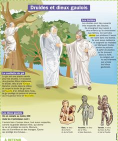 Druides et Dieux gaulois French History, European History, Ancient History, French Teaching Resources, Teaching French, French Class, Celtic Druids, Celtic Culture, Celtic Mythology