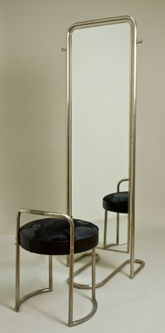 to sit and look at oneself? - Louis Sognot Mirror with Ottoman
