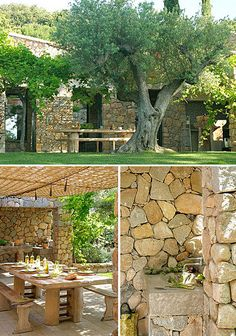 The stone walls are divine!  Who wouldn't love to live  by here? This summer house is in Corsica (by The Style Files via Flickr)