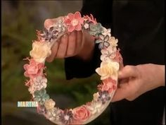 How to Make Flowers out of Shells Videos   Tv How to's and ideas   Martha Stewart