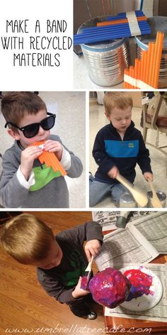 Make a band with recycled musical instruments including instructions for paper mache maracas. so fun!