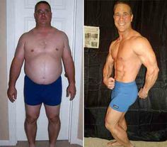 before and after fitness transformation